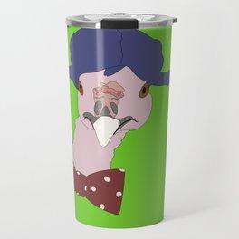 Spunky Turkey Purple Hair GB Travel Mug
