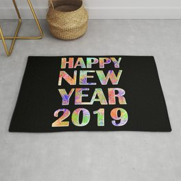 Happy New Year 2019 New Year's Eve Party Gift Rug
