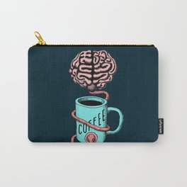 Coffee for the brain. Funny coffee illustration Carry-All Pouch
