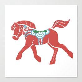 Real Dala Horse #2 Canvas Print