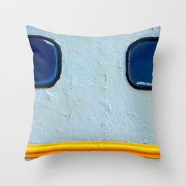 Old Diesel Locomotive Abstract Throw Pillow