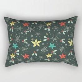 Christmas flower pattern Rectangular Pillow