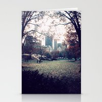 central park Stationery Cards featuring Central Park by The Clutter Monkey