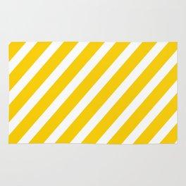 Yellow Diagonal Stripes Rug