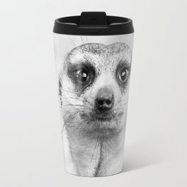 Meerkat portrait Travel Mug