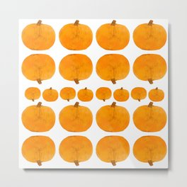 Pumpkin Pattern | Rustic Metal Print