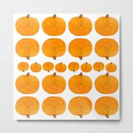 Pumpkin Pattern   Rustic Metal Print
