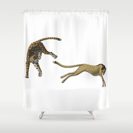 Tag, You're It Shower Curtain