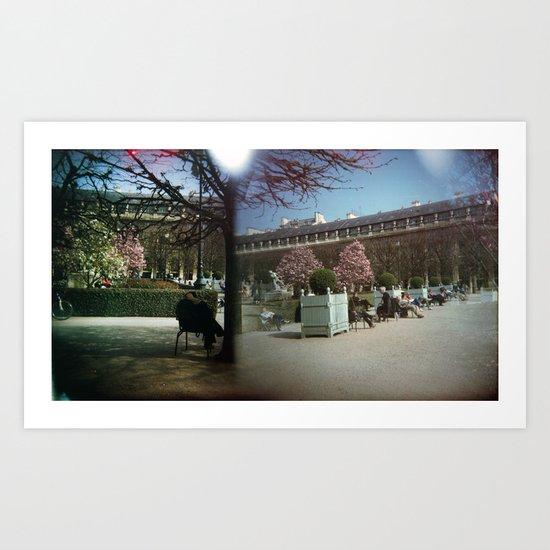 Jardin du Palais Royal, Paris Art Print