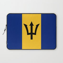Barbados country flag Laptop Sleeve