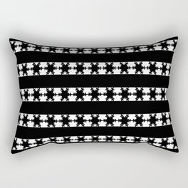 Festive Winter Snow flakes Rectangular Pillow