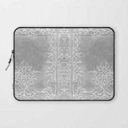 Tribal Edging Book Cover Light Laptop Sleeve