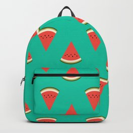 watermelon fruit food fight apparel and gifts teal Backpack
