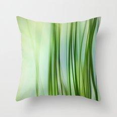 Vertical Grasses Throw Pillow