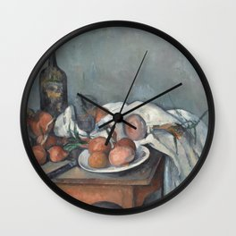 Still Life with Onions Wall Clock