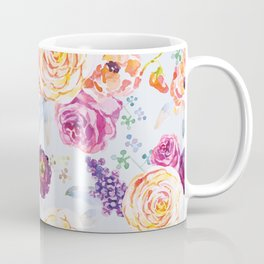 Apricot and purple flowers Coffee Mug