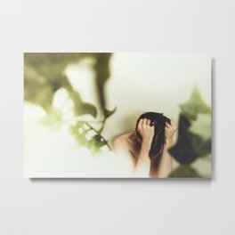 There is no other door to life than the door nature have create. Metal Print