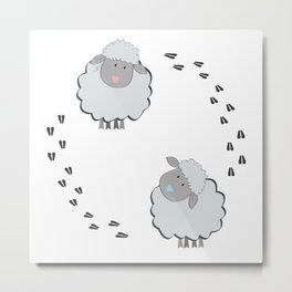 Cute Couple Metal Print