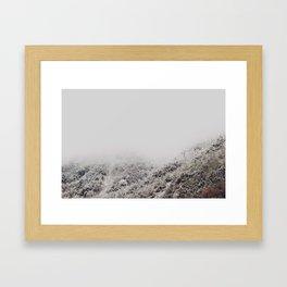 White breath Framed Art Print