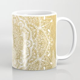 NATURE DETAILS MANDALA IN GOLD Coffee Mug