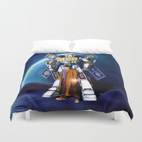 robocop Duvet Covers featuring tardis Doctor Who Mashup transformers Phone Box Robot iPhone 4 4s 5 5c 6, pillow case and tshirt by Three Second