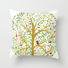 White Oak Crown Throw Pillow