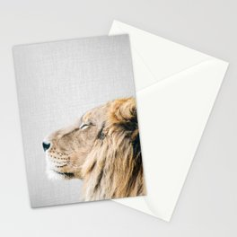 Lion Portrait - Colorful Stationery Cards