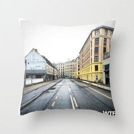 Sunday Morning, Vesterbro, Copenhagen Throw Pillow