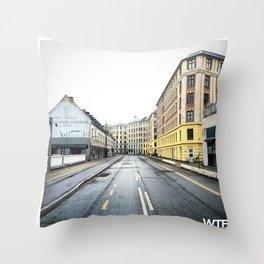 Sunday Morning, Vesterbro, Copenhagen Throw Pillow