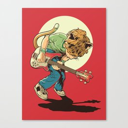 Cat Pilgrim Versus The Litterbox of the World! Canvas Print