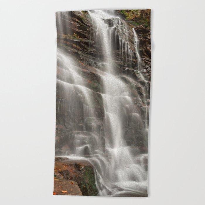 Ganoga Autumn Falls Beach Towel