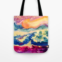 My Starry Watercolor Night Tote Bag