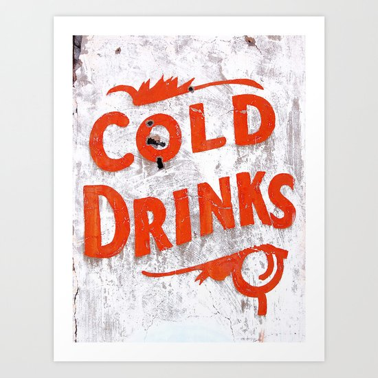 Cold Drinks Art Print
