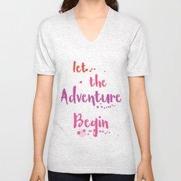 Let the Adventure begin ink Unisex V-Neck