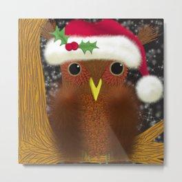 The Christmas Eve Owl Metal Print