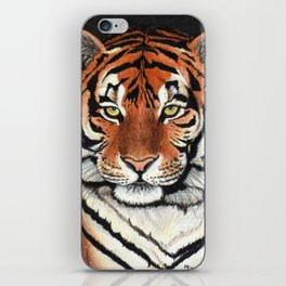 Tiger portrait drawing iPhone Skin