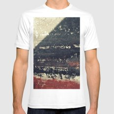 The red wall White Mens Fitted Tee MEDIUM