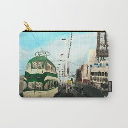 Blackpool Lancashire England Acrylic Fine Art Carry-All Pouch