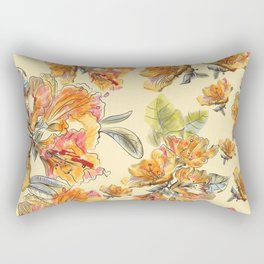 Orange azalia flowers Rectangular Pillow