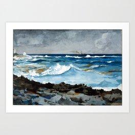 Winslow Homer Shore and Surf, Nassau Art Print