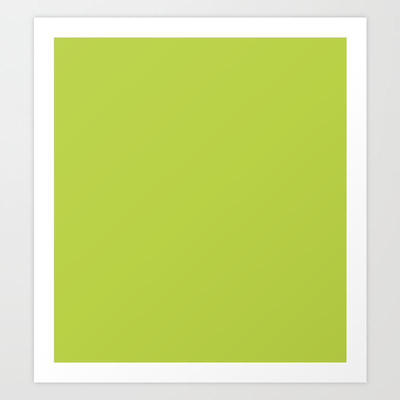 Bright Lime Green Pantone Color Art