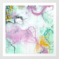 Chrystarium - Square Abstract Expressionism Art Print