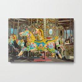 Carnival carousel from Brighton Palace Pier Metal Print