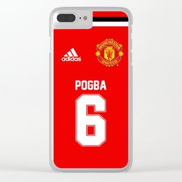 Pogba Edititon - Manchester United Home 2017/18 Clear iPhone Case
