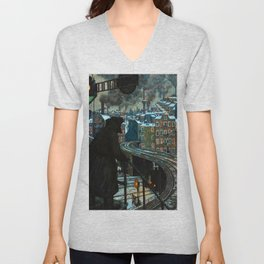 Hans Baluschek City of Workers Unisex V-Neck
