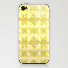 Lemon Yellow Greek Key Pattern  iPhone & iPod Skin