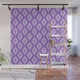 Diamond Pattern in Purple and Lavender Wall Mural