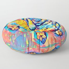 Colorful Popart Dachshund Floor Pillow
