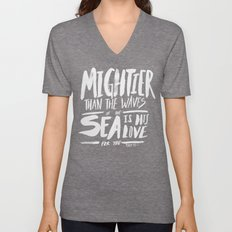 Mightier than the Sea Unisex V-Neck