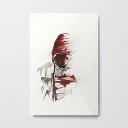 Red Hood - Splatter Artwork Metal Print